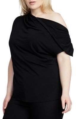 Rachel Roy Plus Christina Asymmetrical Neck Top