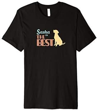 Sasha the Dog Personalized Cute Gift T-Shirt Womens & Girls