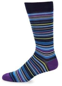 Multi-Color Stripe Cotton Socks