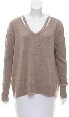 White + Warren Knit Cutout Sweater