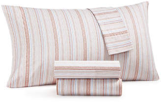 Martha Stewart Collection 4-Pc. Printed King Sheet Set, 400 Thread Count 100% Cotton Percale