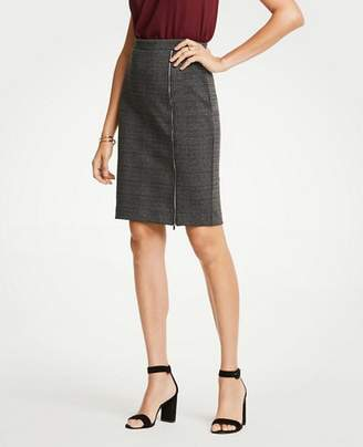 Ann Taylor Plaid Zipper Pencil Skirt