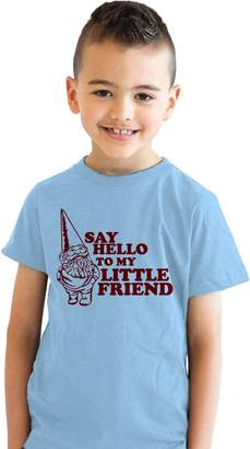 Crazy Dog T-shirts Crazy Dog Tshirts Youth Say Hello To My Little Friend T Shirt Funny Gnome Scarface Tee Kids S