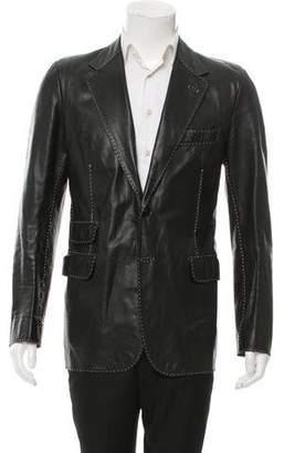 Fendi Leather Two-Button Blazer