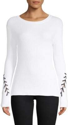 John & Jenn Connor Lace-Up Sweater