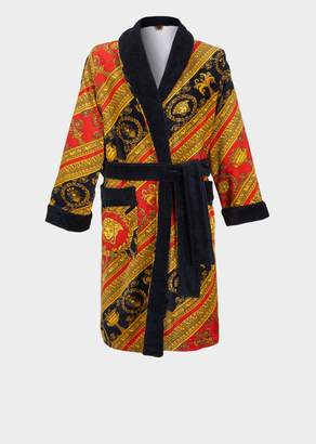 Versace I Baroque Terry Cloth Bathrobe