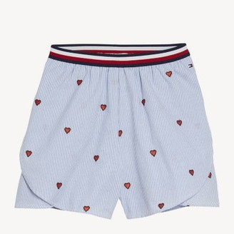 Tommy Hilfiger Embroidered Heart Stripe Shorts