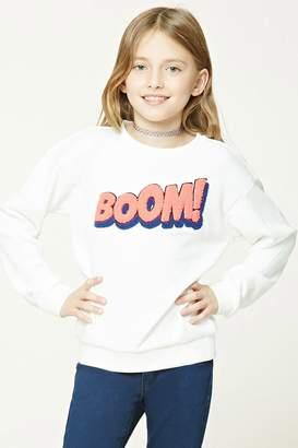 Forever 21 Girls Graphic Sweatshirt (Kids)
