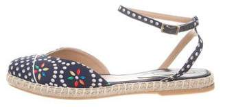 Tabitha Simmons Printed Ankle-Strap Espadrilles
