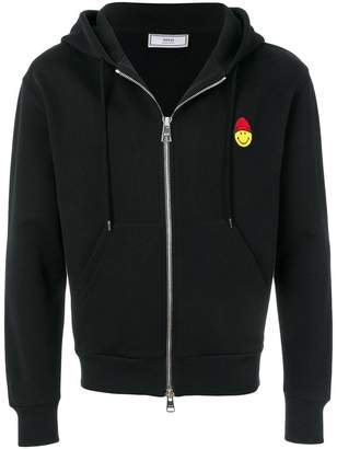 Ami Alexandre Mattiussi Zipped Hoodie With Patch Smiley