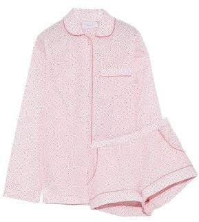Three J NYC Printed Cotton-Poplin Pajama Set