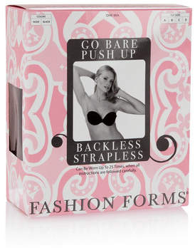 Fashion Forms Go Bare Self-adhesive Backless Strapless Bra - Black