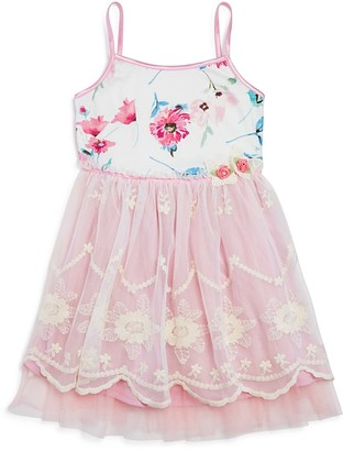 Zunie Girls' Floral Lace Dress - Sizes 2T-6X $48 thestylecure.com