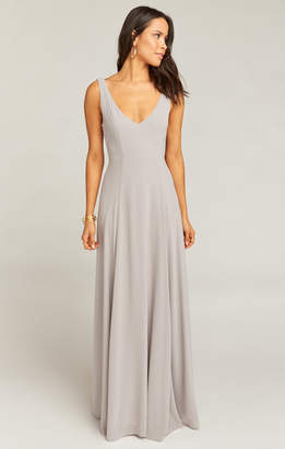 19811797dc0d Show Me Your Mumu Jenn Maxi Dress ~ Dove Grey Chiffon