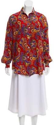 Ralph Lauren Purple Label Silk Oversize Top