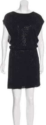 Alice + Olivia Embellished Wool-Blend Dress