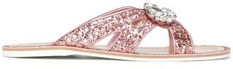Car Shoe glitter embellished sandals