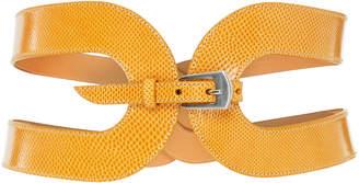 Maison Vaincourt Exclusive The Cage Snake Skin Waist Belt