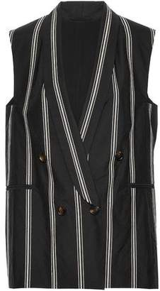 Brunello Cucinelli Double-Breasted Sequin-Embellished Cotton-Blend Vest