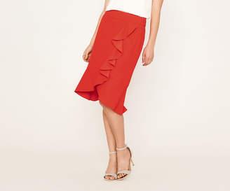 Oasis Frill Wrap Skirt