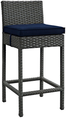 Modway Sojourn Outdoor Patio Wicker Rattan Sunbrella Bar Stool