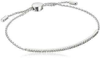 Sterling Silver Created Sapphire Bolo Adjustable Bracelet