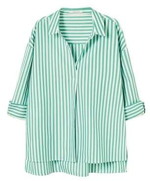 Violeta BY MANGO Striped cotton blouse