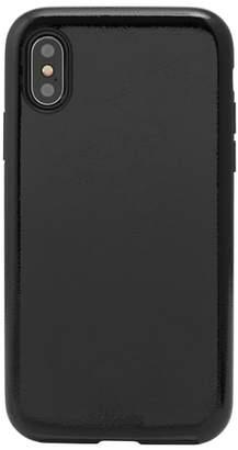 Sonix Black Patent Faux Leather iPhone X & Xs Case