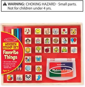 Melissa & Doug Kids' Favorite Things Wooden Stamp Set