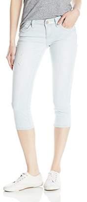 YMI Jeanswear Women's Wannabettabutt Single Button Capri