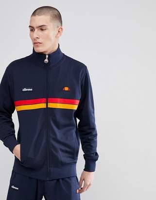 Ellesse Jacket With Funnel Neck In Navy
