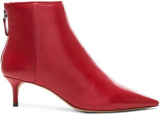 Alexandre Birman Leather Kittie Ankle Boots in Flame | FWRD