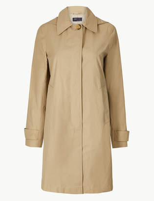 Marks and Spencer Button Detail Hooded Trench Coat