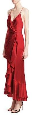 Johanna Ortiz Perfumero Silk Wrap Dress