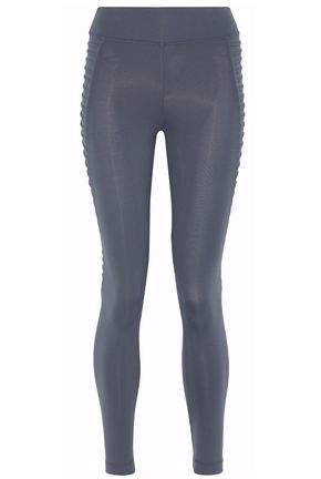 Cropped Paneled Stretch Leggings