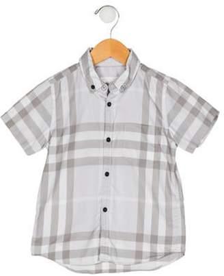 Burberry Boys' Button-Up Shirt grey Boys' Button-Up Shirt