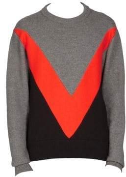 Ami Wool Chevron Sweater