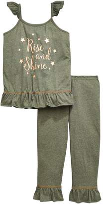 Very Girls Rise And Shine Frill Pj Set