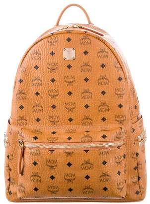 MCM Leather-Trimmed Visetos Backpack