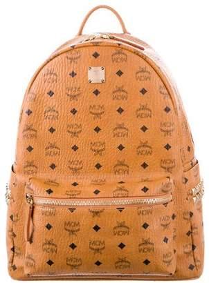 MCM Leather-Trimmed Visetos Backpack