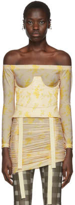 BEIGE Charlotte Knowles and Yellow Corset Top
