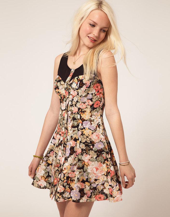 Minkpink 'Valerie' Floral Bodice Dress