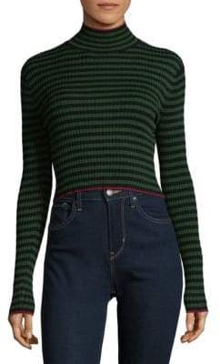 Ronny Kobo Leslie Stripe Turtleneck Top
