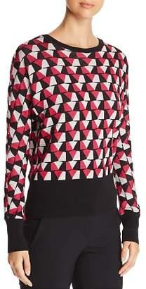 BOSS Estine Geometric Print Sweater