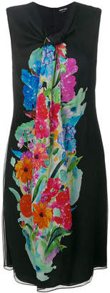 Giorgio Armani printed scarf neck dress