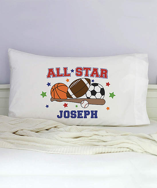 'All Star' Sports Personalized Pillowcase
