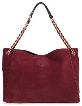 Tory Burch 'Marion' Suede Tote $495 thestylecure.com