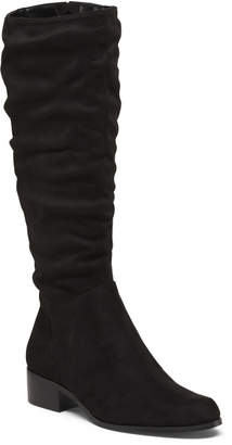 Slouchy Stretch Knit Mid Shaft Boots