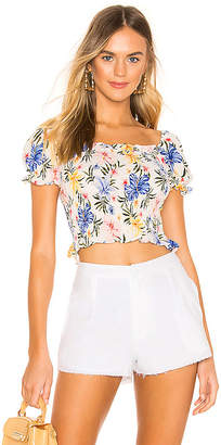 superdown Juliette Smocked Crop Top