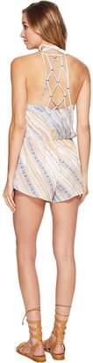 Dolce Vita Serengeti Splash Romper Cover-Up Women's Swimsuits One Piece